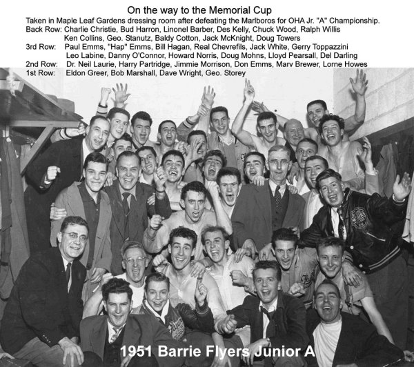 Barrie Flyers 1951 Memorial Cup Champions