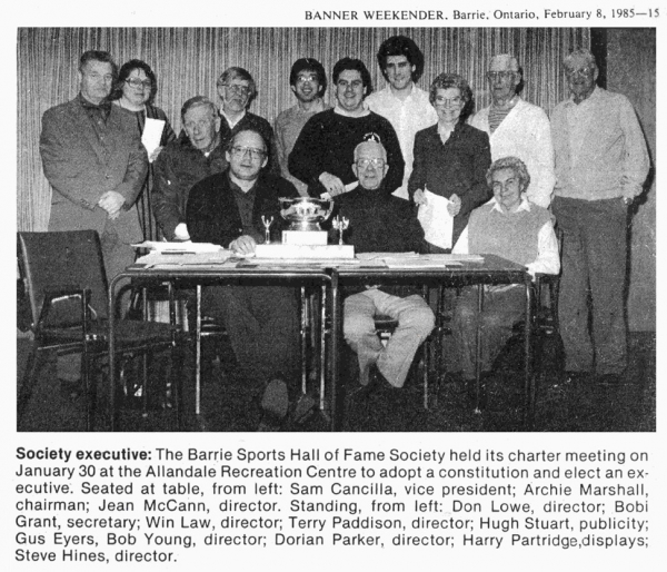 BSHOF Charter Executives c. 1985