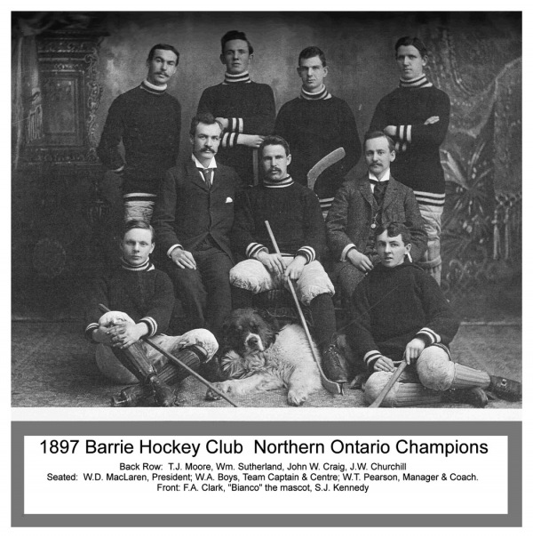 1897 Barrie Hockey Club Northern Ontario Champs