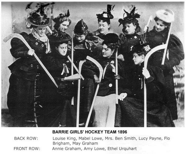 1896 Barrie Girls Hockey Club