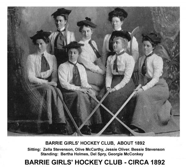 1892 Barrie Girls Hockey Club