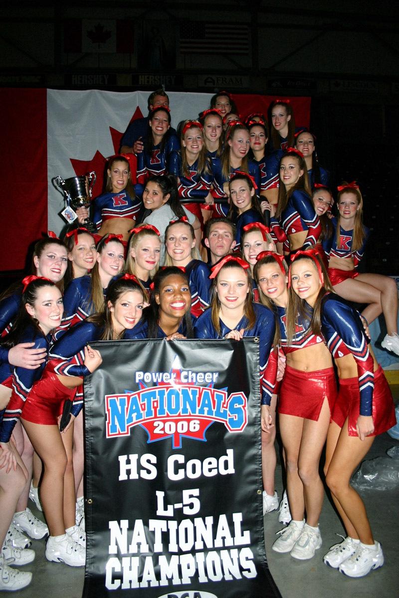 Bear Creek Kodiak Secondary School Varsity Cheerleading Team 2006 Cheer Alliance National Champions Sr. Girls High School Advanced