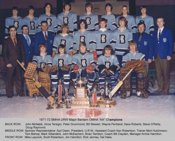 1971-72 BMHA Major Bantam  OMHA AA Champions