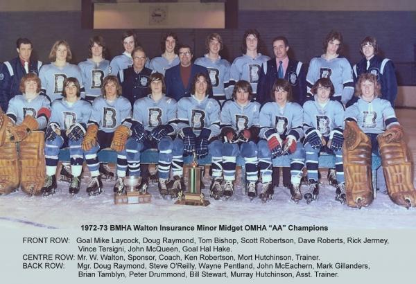 1972-73 BMHA Minor Midget  OMHA AA Champions