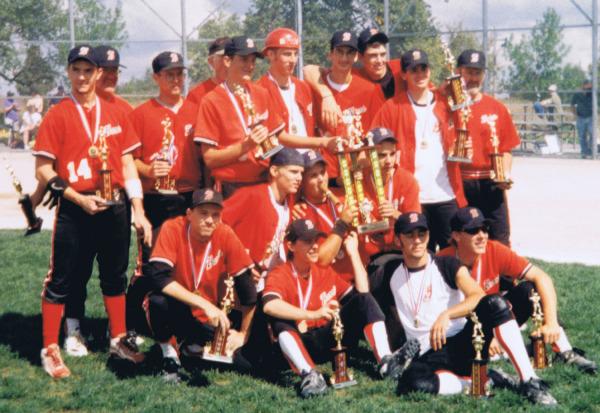 1998 Barrie Minor Baseball Juvenile Selects Ontario Baseball Provincial Champions