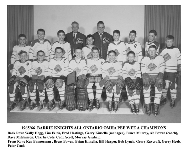 1965-66 Barrie Knights OMHA Pee Wee A Champions