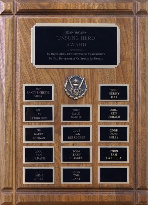 The Jean McCann Unsung Hero Award